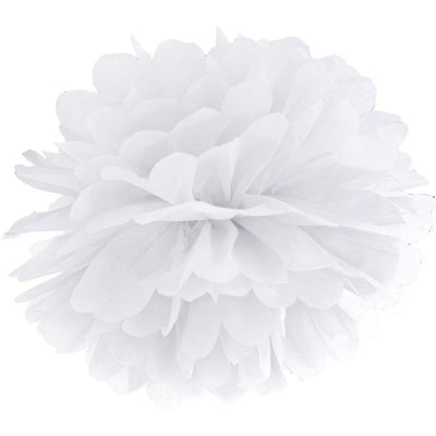 White paper Party Pom Pom