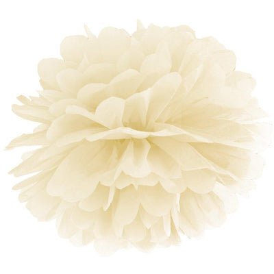 Cream paper Pom Pom Decorations