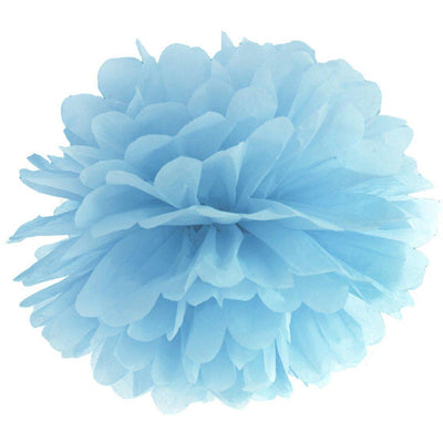 Light Blue paper Pom pom