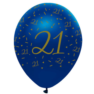 21st Birthday Latex Balloons