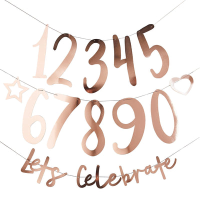 Rose Gold Personalised Banner