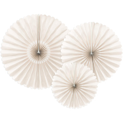 Cream Paper Fan Decorations