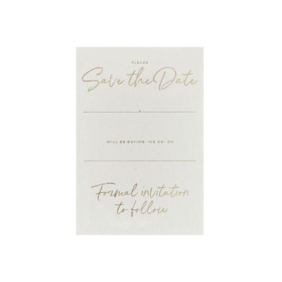 Gold Save The Date Cards