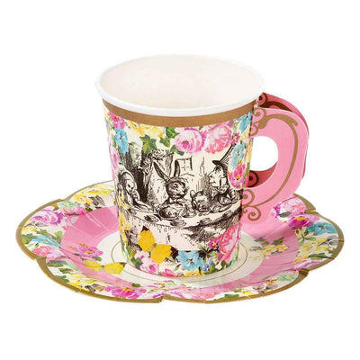 Truly Alice Tea Cups and Saucers