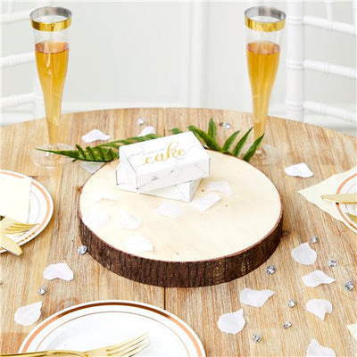 Wooden Slice Centerpiece