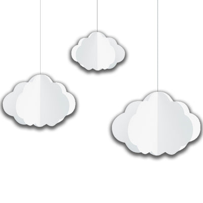 White clouds hanging decorations