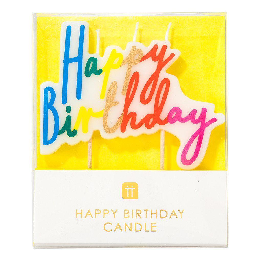 Happy Birthday Rainbow Candle