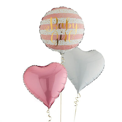 Baby Girl Foil Balloons Inflated