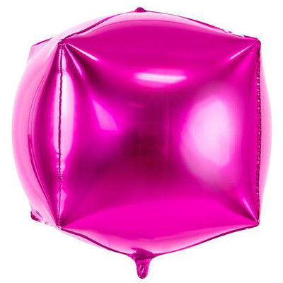 Pink Cube Foil Balloon