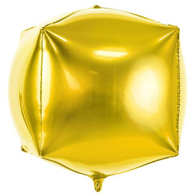 Gold Cube Foil Balloons