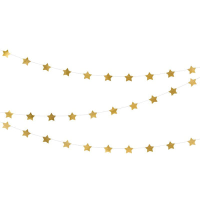 Gold Stars Foil Garland Party Deco