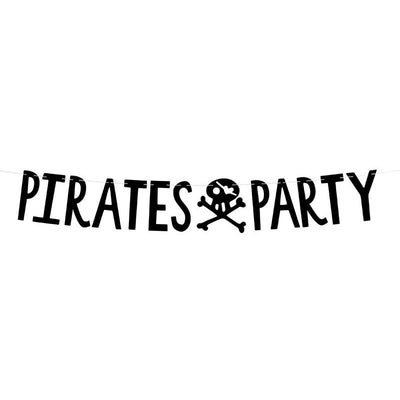 Pirates Party Black Banner Party Deco