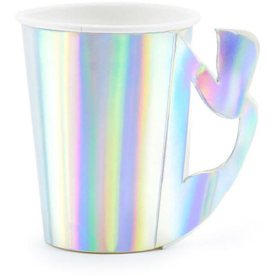 Iridescent mermaid paper cups Party Deco