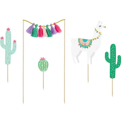 Llama Cake Toppers Party Deco