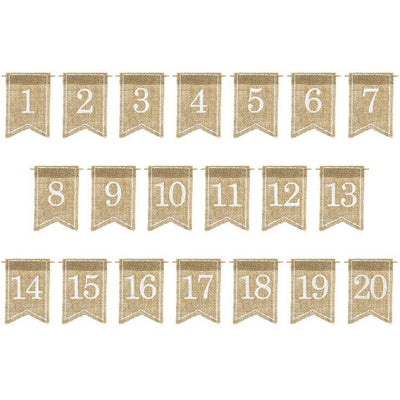 Jute Hessian Wedding Table Numbers