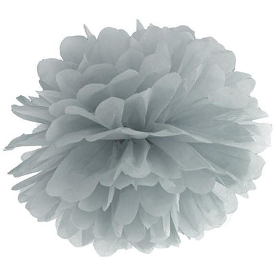 grey Tissue paper Pom pom Decoration