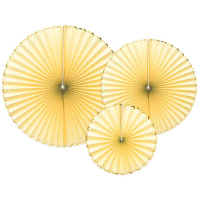 Light Yellow Decorative Rosettes