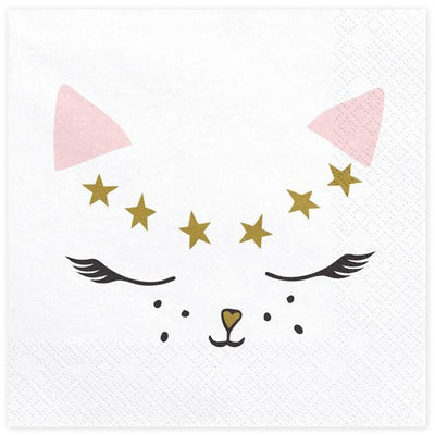 Kitty Cat Paper Napkins Party Deco