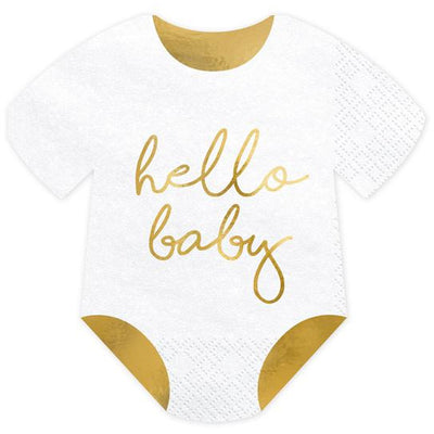 Hello baby For Baby Shower Napkins