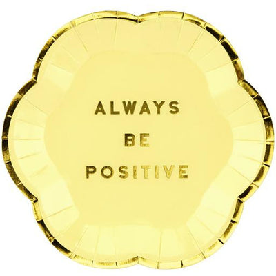 Always Be Positive Party Canape Plates Party Deco