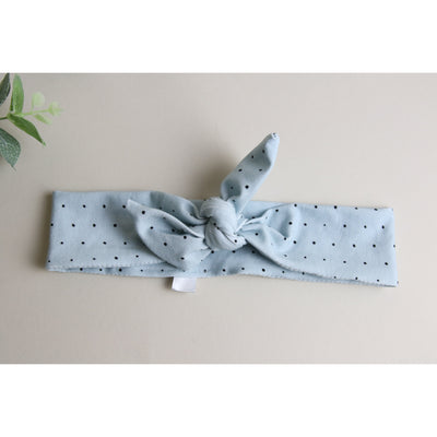 Blue dotty headband Tie - Gifts For Girls