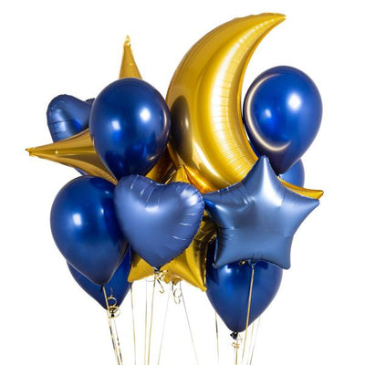 Bubblegum Balloons - Blue Midnight Crazy Balloon Bunch - MDNB-CRZY- The Original Party Bag Company
