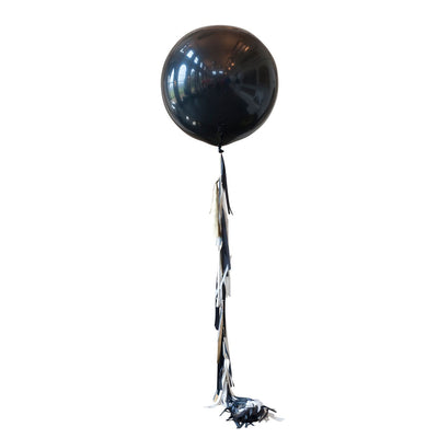 Bubblegum Balloons - Giant Black Glitz 2m Tassel Tail Balloon - GLTZ-GTAS- The Original Party Bag Company