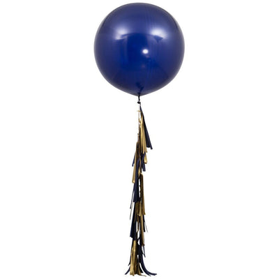 Bubblegum Balloons - Giant Midnight Blue 2m Tassel Tail Balloon - MDNB-GTAS- The Original Party Bag Company