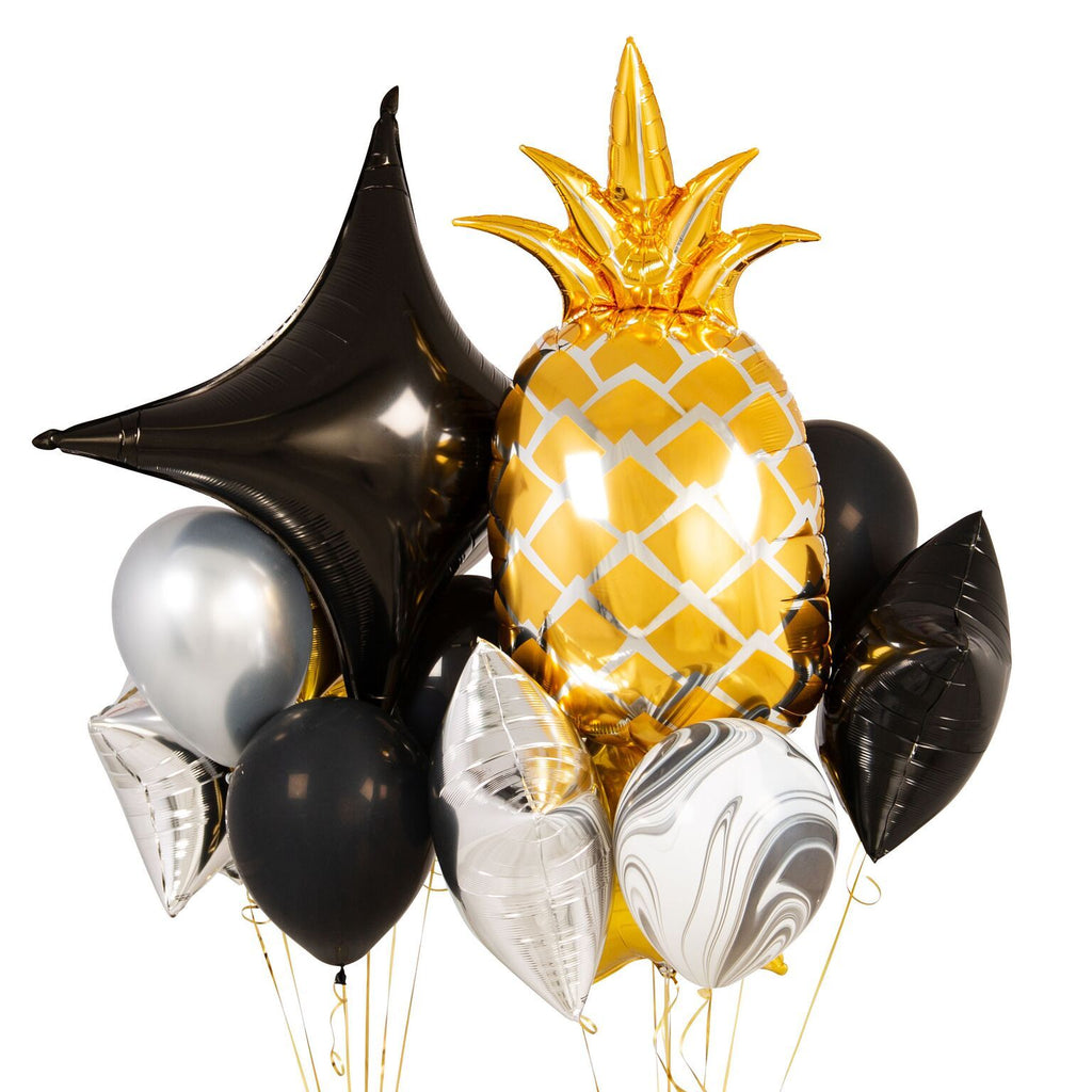 Bubblegum Balloons - Glitz And Glam Pineapple Crazy Balloon Bunch - GLTZ-CRZY- The Original Party Bag Company