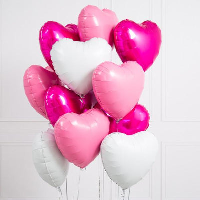 Bubblegum Balloons - Inflated Pretty Pink Heart Balloons - infprettypinkheart- The Original Party Bag Company