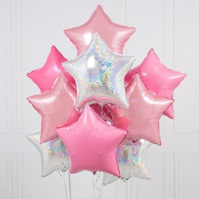 Bubblegum Balloons - Inflated Princess Star Balloons - inflaprincessstar- The Original Party Bag Company