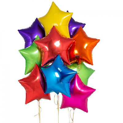 Bubblegum Balloons - Inflated Rainbow Star Balloons - starinflaterainbow- The Original Party Bag Company
