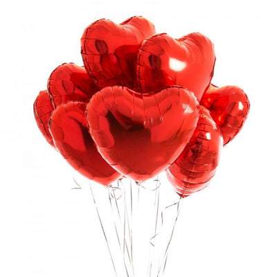 Bubblegum Balloons - Inflated Red Heart Balloons - infredheart- The Original Party Bag Company