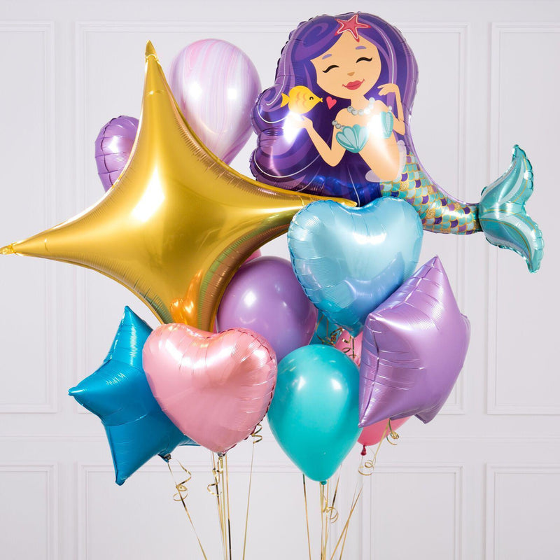 Bubblegum Balloons - Mermaid Crazy Balloon Bunch - MRMD-CRZY- The Original Party Bag Company