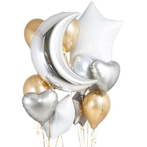 Bubblegum Balloons - Metallic Mix Crazy Balloon Bunch - metmixcrazy- The Original Party Bag Company
