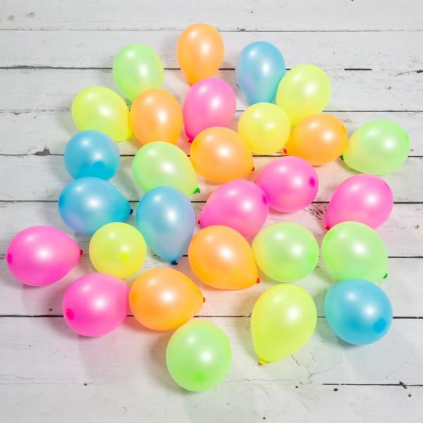 Bubblegum Balloons - Neon Mini Balloons (Pk28) - neonminiball- The Original Party Bag Company