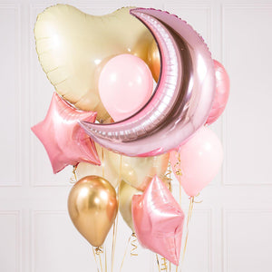 Bubblegum Balloons - Pale Pink Crazy Balloon Bunch - BBYP-CRZY- The Original Party Bag Company
