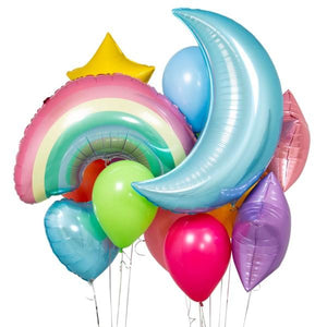 Bubblegum Balloons - Pastel Rainbow Crazy Balloon Bunch - PSTR-CRZY- The Original Party Bag Company