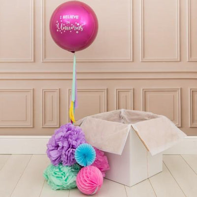 Bubblegum Balloons - Personalised Orb Balloon - Pink - peruniorb- The Original Party Bag Company
