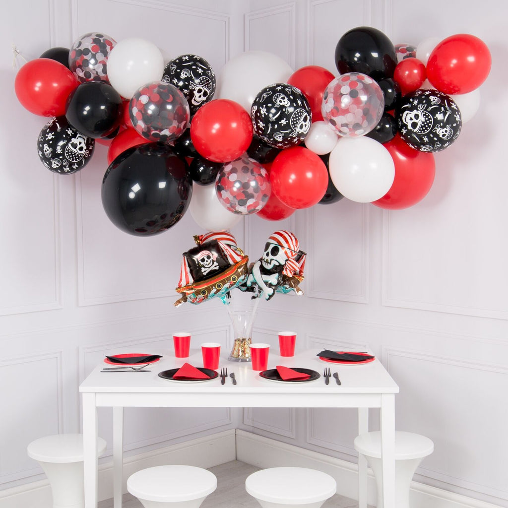 Bubblegum Balloons - Pirate Crazy Foil Balloon Bunch - PIRT-CRZY- The Original Party Bag Company