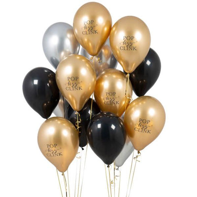 Bubblegum Balloons - Pop Fizz Clink Glitz Party Balloons (Pk14) - gltz-pfcp- The Original Party Bag Company