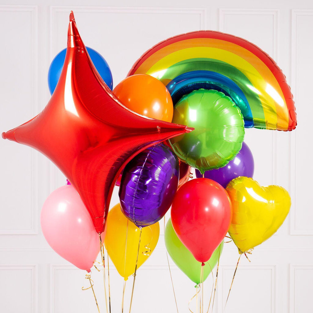 Bubblegum Balloons - Rainbow Bright Crazy Balloon Bunch - RNBW-CRZY- The Original Party Bag Company