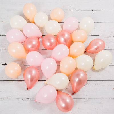 Bubblegum Balloons - Rose Gold Blush Mini Balloons (PK28) - RSGB-MINB- The Original Party Bag Company