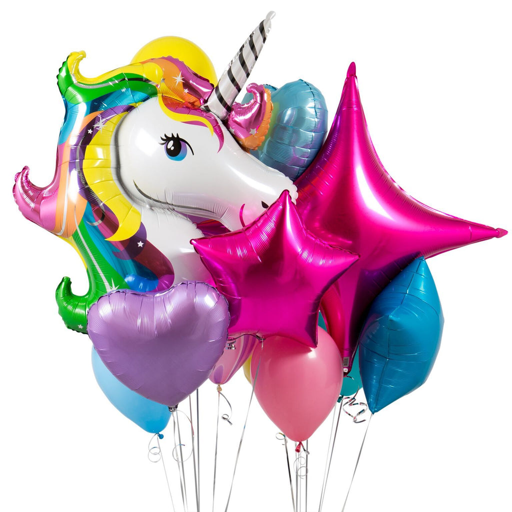 Bubblegum Balloons - Unicorn Rainbow Crazy Balloon Bunch - UNCR-CRZY- The Original Party Bag Company