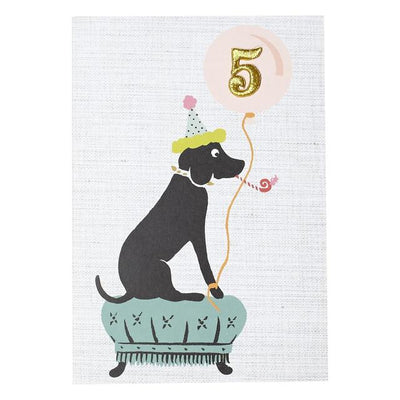 5th Birthday Card Dog