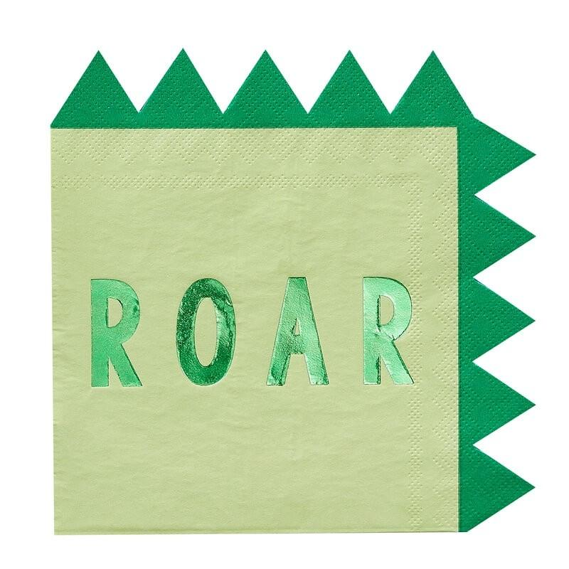 Ginger Ray - Dinosaur Paper Party Napkins (Pk16) - rr-315- The Original Party Bag Company