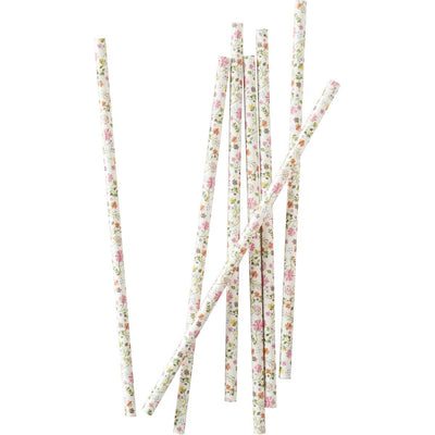 Ginger Ray - Floral Paper Straws (Pk25) - DF-806- The Original Party Bag Company