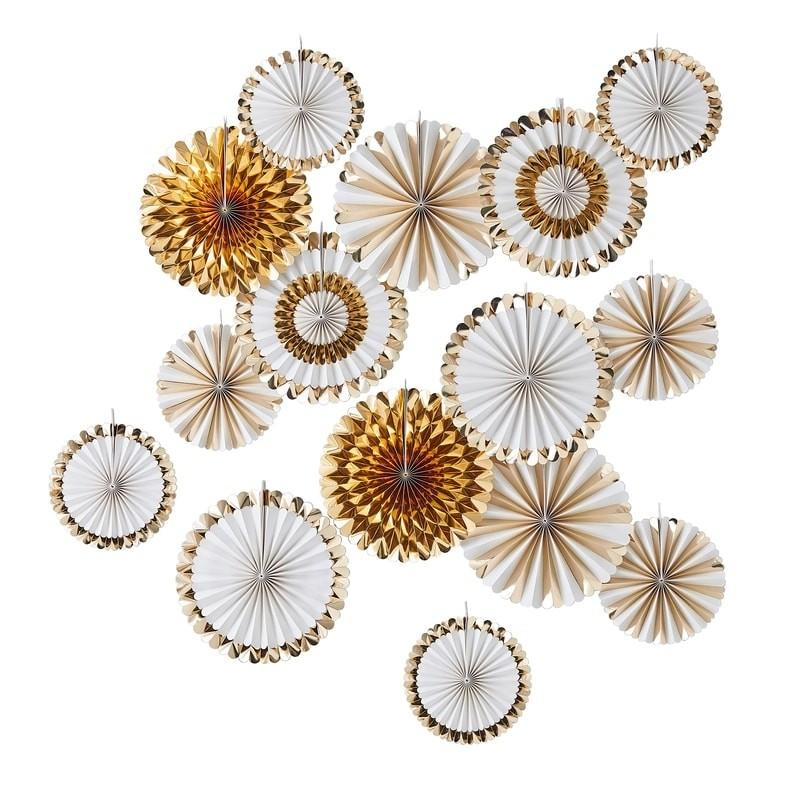 Ginger Ray - Gold Fan Decoration Backdrop - GO-162- The Original Party Bag Company