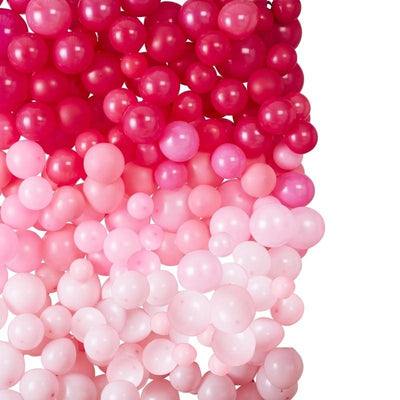 Ginger Ray - Ombre Pink Balloon Wall - sg-118- The Original Party Bag Company