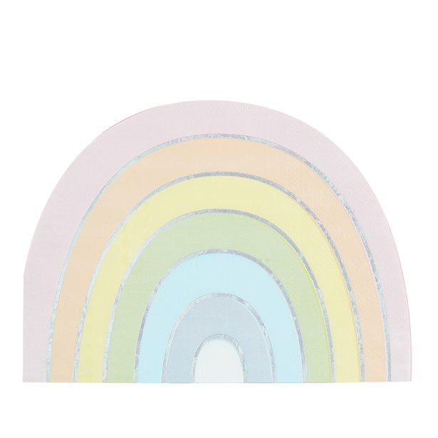 Ginger Ray - Pastel Stripe Rainbow Napkins (Pk16) - ps-558- The Original Party Bag Company